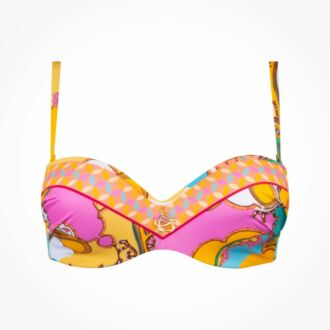 Lise Charmel Swim Soleil Floral strapless bikinitop (C-D)