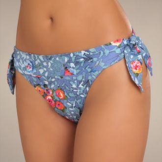Pain De Sucre Diva bikini heupslip met strikjes (Nirvana print)