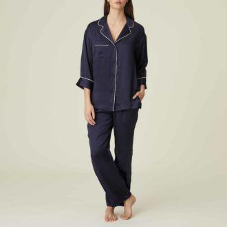 Marie Jo Sakura pyjama met lange broek in zijde